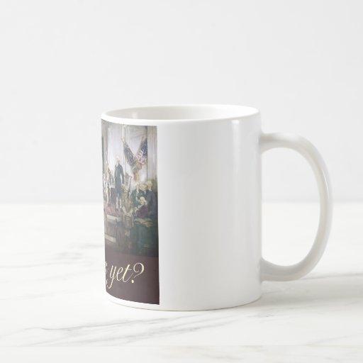 falte nos con todo a los fundadores constitucional taza de café