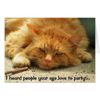 Faltó al fiesta para una siesta tarjeta de felicitación