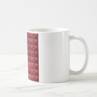 Falu Red Abstract Low Polygon Background Coffee Mug