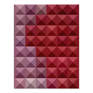 Falu Red Abstract Low Polygon Background Letterhead