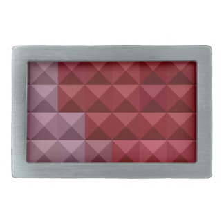 Falu Red Abstract Low Polygon Background Rectangular Belt Buckle