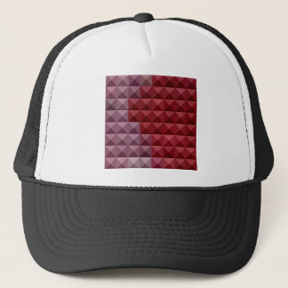 Falu Red Abstract Low Polygon Background Trucker Hat