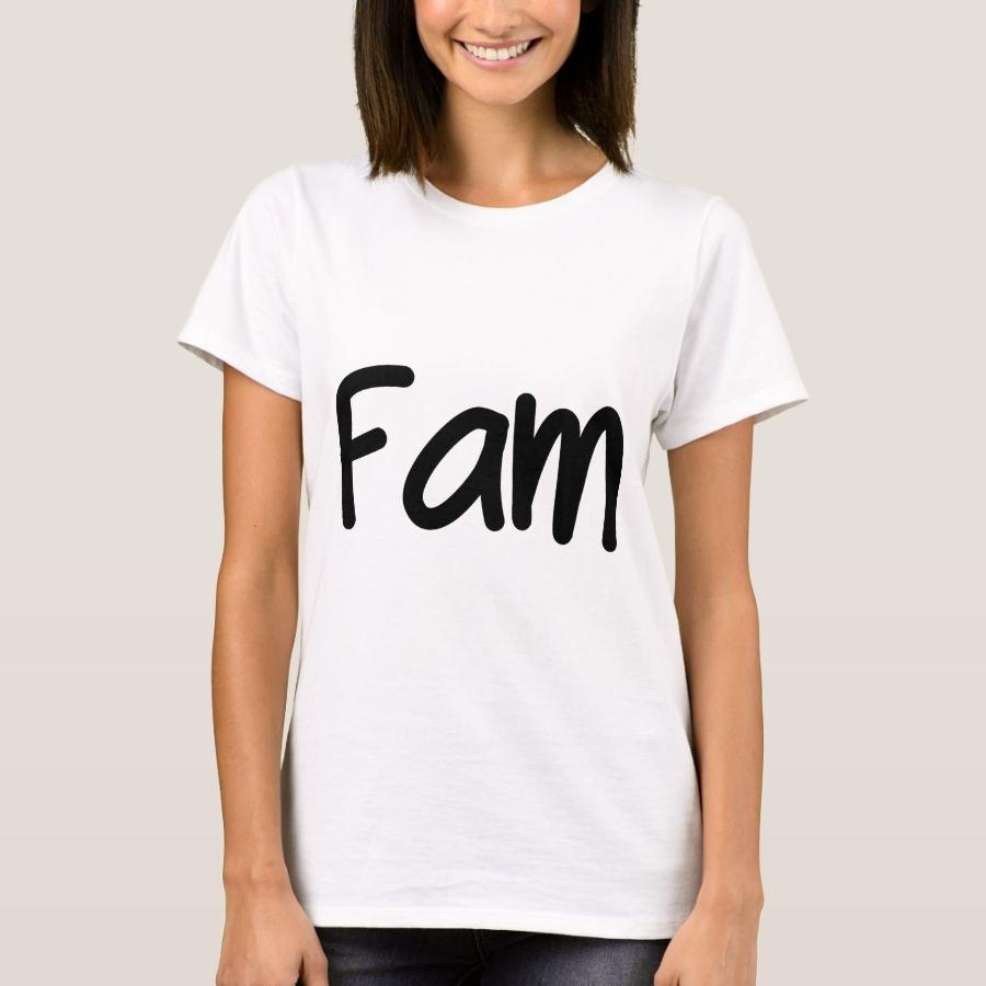 Fam T-Shirt - Best Selling Long-Sleeve Street Fashion Shirt Designs