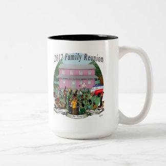 fam taza de café de dos colores