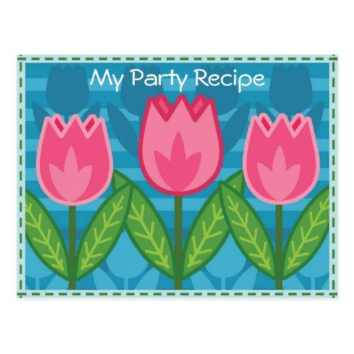 Fama - mi tarjeta de la receta del fiesta tarjetas postales