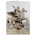 Fama que monta Pegaso 1699-1702 Tarjeta De Felicitación
