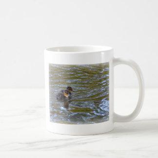 Famale mallard and ducklings classic white coffee mug