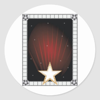 Fame Background Classic Round Sticker