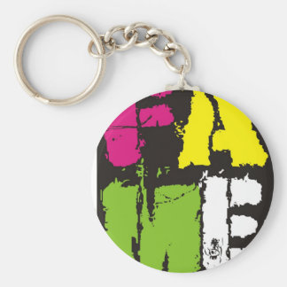 FAME Colours Basic Round Button Keychain
