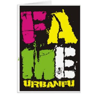 FAME Colours Card