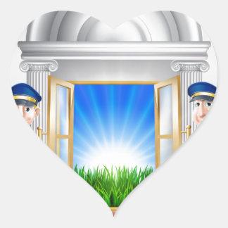 Fame concept heart sticker