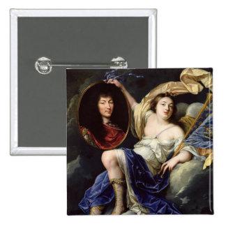 Fame Presenting a Portrait of Louis XIV Pin