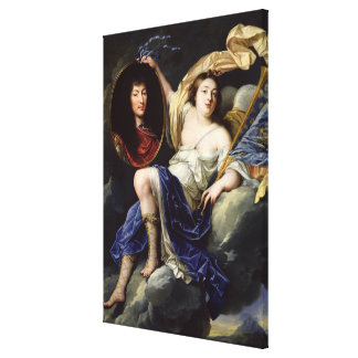 Fame Presenting a Portrait of Louis XIV Gallery Wrapped Canvas
