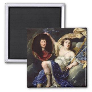 Fame Presenting a Portrait of Louis XIV Magnet