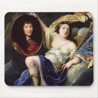 Fame Presenting a Portrait of Louis XIV Mouse Pad