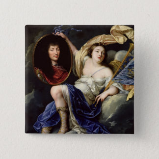Fame Presenting a Portrait of Louis XIV Pinback Button