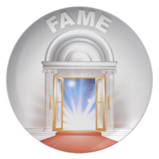 Fame red Carpet Door Dinner Plates