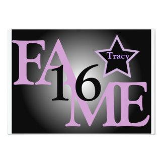 FAME Sweet Sixteen Star -Customize Card