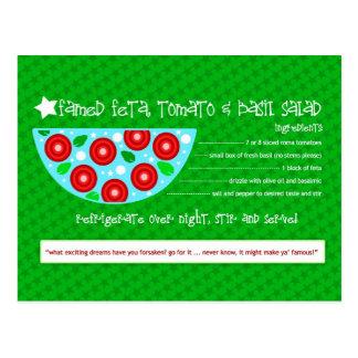 FAMED FETA TOMATO BASIL SALAD POSTCARD