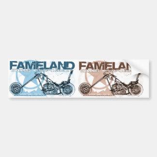 fameland choppers hollywood bumper sticker
