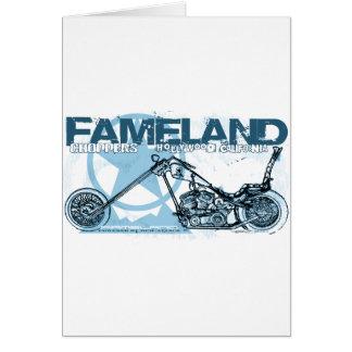 fameland choppers hollywood greeting card