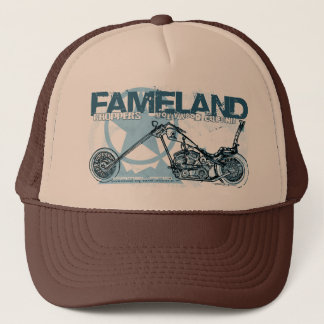 fameland choppers hollywood trucker hat