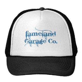Fameland Garage Company - edición del azul del pla Gorras