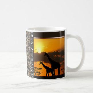 Familia 2 de la jirafa taza de café