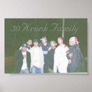 familia 30Krunk Póster