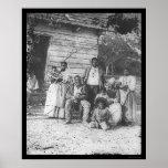Familia afroamericana en la plantación 1862 de Smi Poster