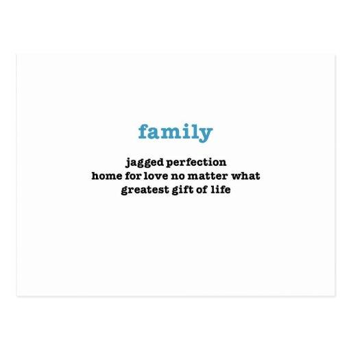 Familia:  Ame no importa qué Postales