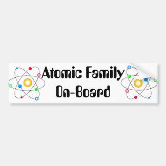 Familia atómica pegatina para auto