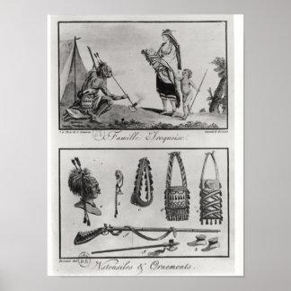 Familia brazos y ornamentos Iroquois Posters