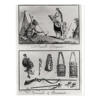 Familia, brazos y ornamentos Iroquois Postales