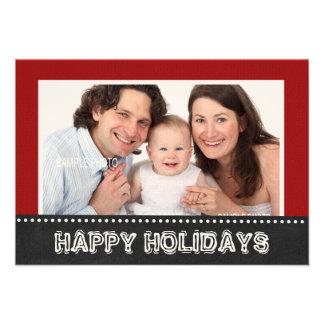 Familia buenas fiestas con la foto comunicado personal