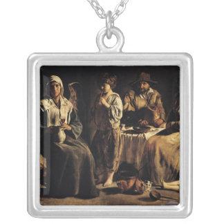 Familia campesina en un interior, c.1643 grimpolas