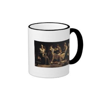 Familia campesina en un interior, c.1643 tazas de café