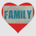Familia Colcomanias De Corazon