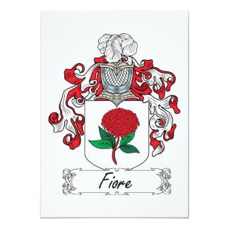 "Familia Crest.png de Fiore Invitación 5"" X 7"""