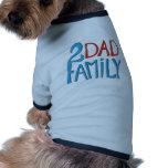 Familia de 2 papás ropa macota