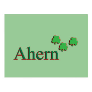 Familia de Ahern Postal