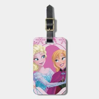 Familia de Ana y de Elsa el   para siempre Etiqueta De Equipaje