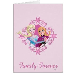 Familia de Ana y de Elsa el | para siempre Tarjeta De Felicitación