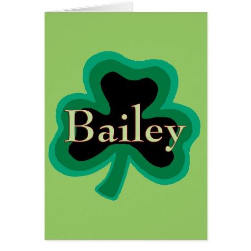 Familia de Bailey Tarjeta De Felicitación