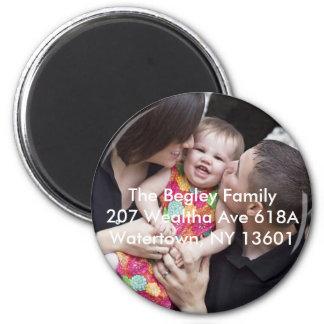 Familia de Begley Imán Redondo 5 Cm