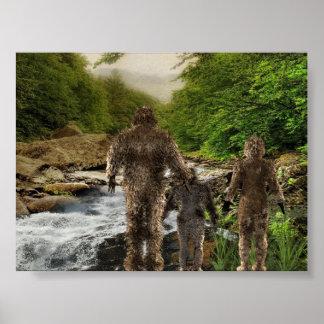 Familia de Bigfoot Impresiones