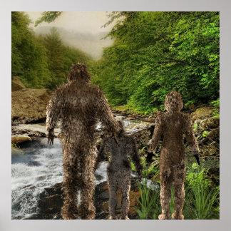 Familia de Bigfoot Póster