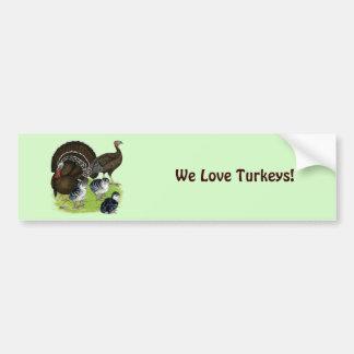 Familia de bronce estándar de Turquía Pegatina Para Auto