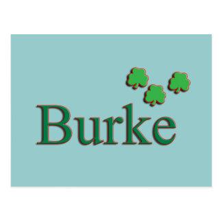 Familia de Burke Tarjeta Postal