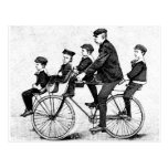Familia de ciclo - ejemplo de la bicicleta del vin tarjeta postal